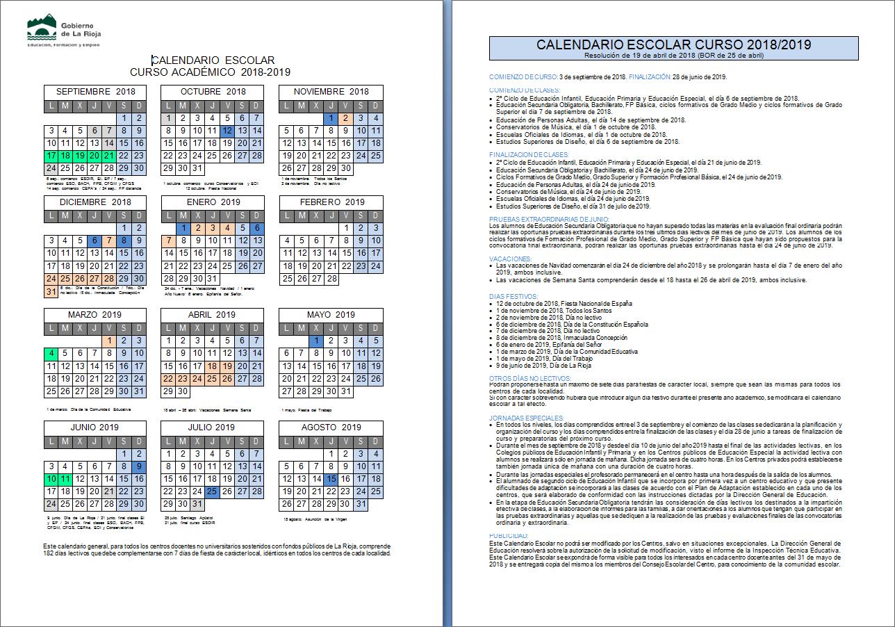 Calendario Escolar 2019 Madrid.Ceip Vuelo Madrid Manila Calendario Escolar